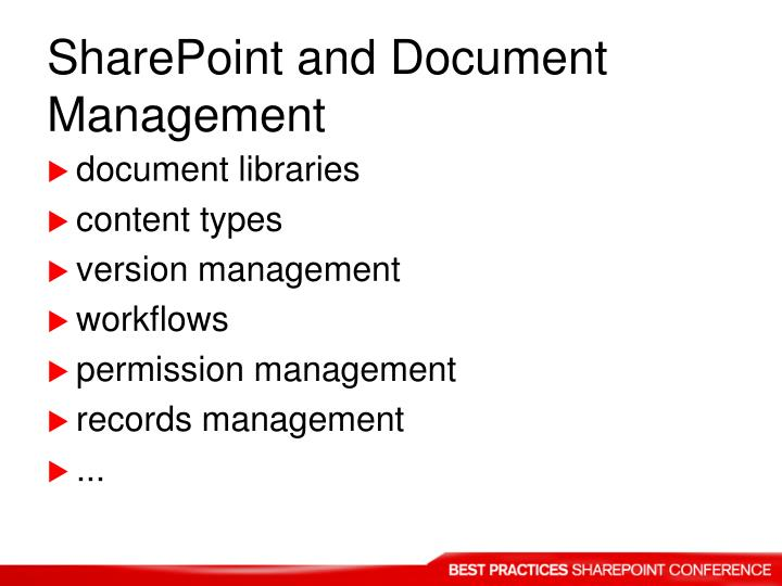 SharePoint and Document Management