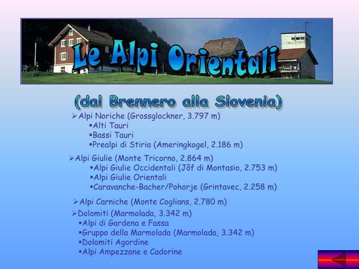 Le Alpi Orientali