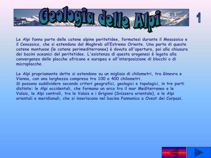 Geologia delle Alpi