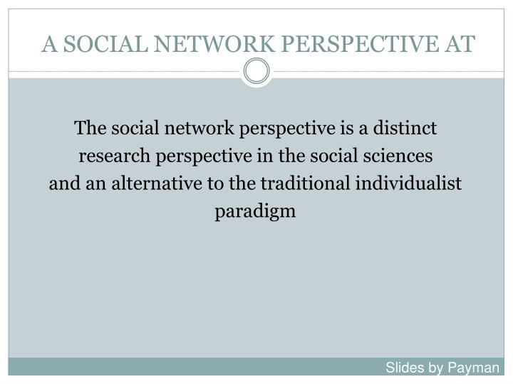 A social network perspective at1