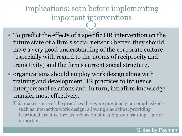 Implications: scan before implementing