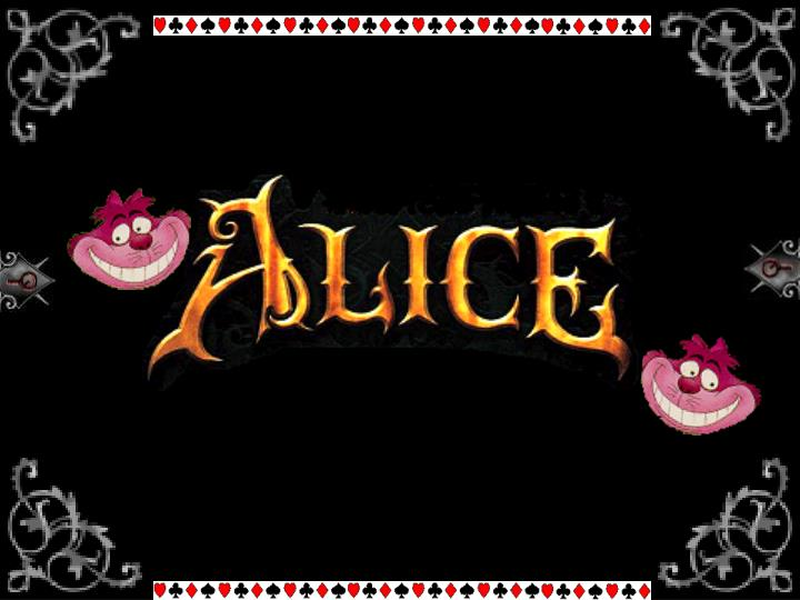 The script of alice in the wonderland