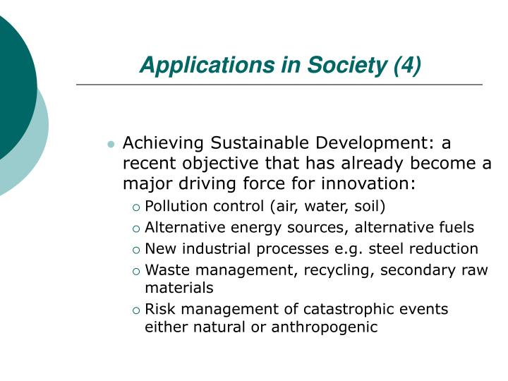 Applications in Society (4)