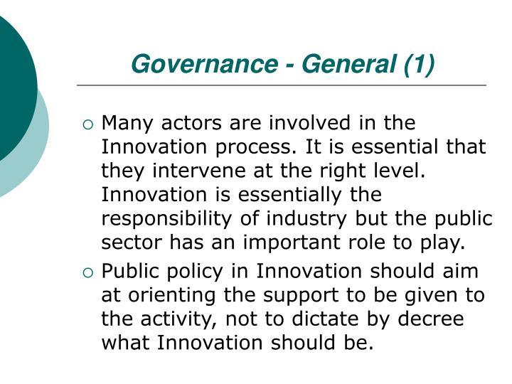 Governance - General (1)