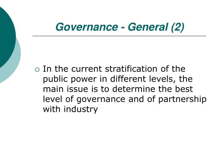 Governance - General (2)