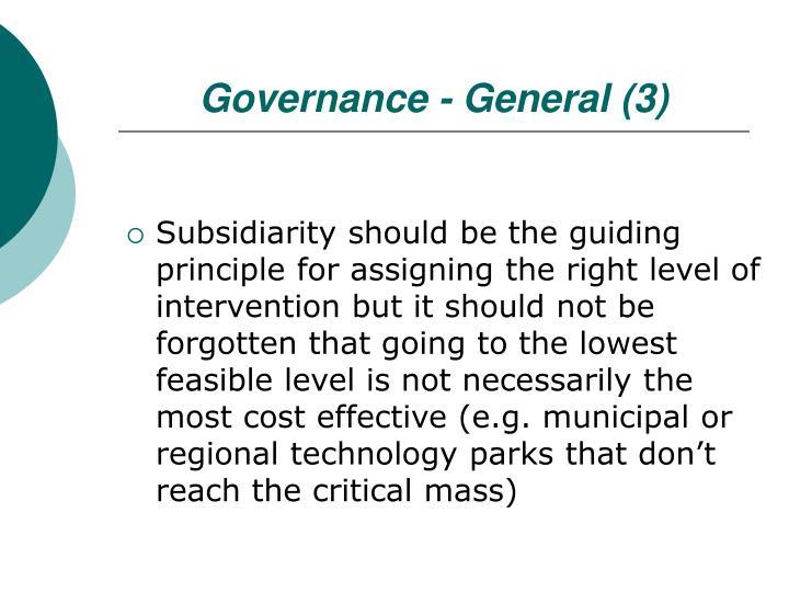 Governance - General (3)