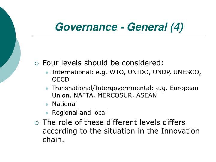 Governance - General (4)