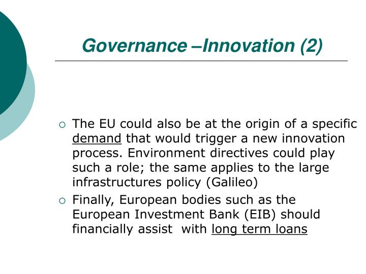 Governance –Innovation (2)