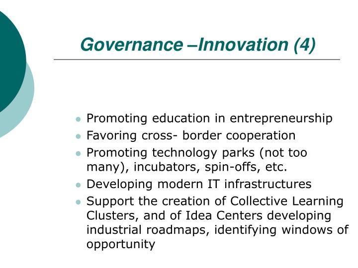 Governance –Innovation (4)