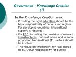 governance knowledge creation 1