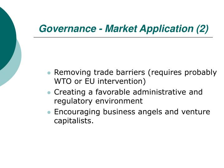 Governance - Market Application (2)