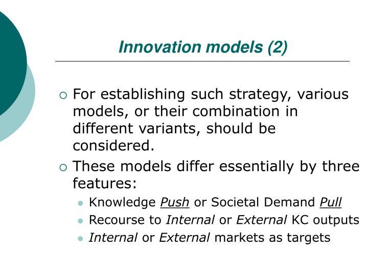 Innovation models (2)