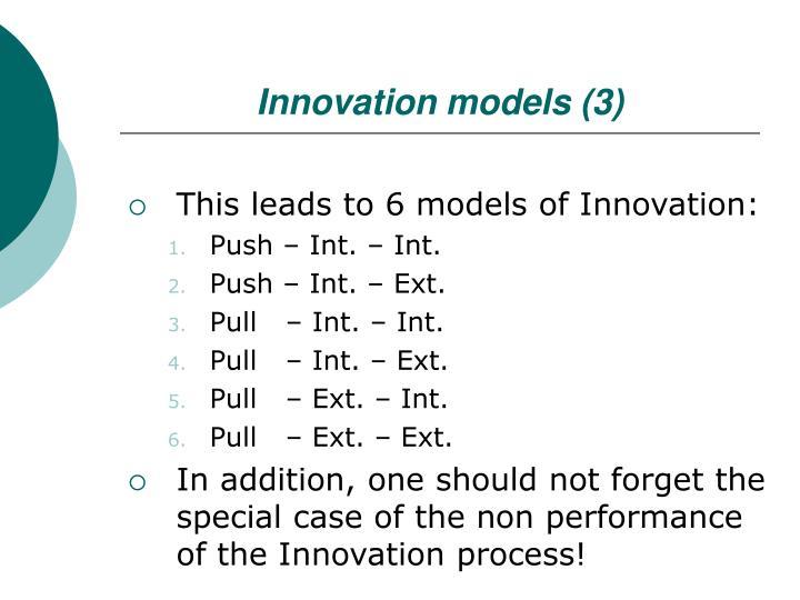Innovation models (3)