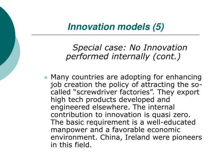 Innovation models (5)