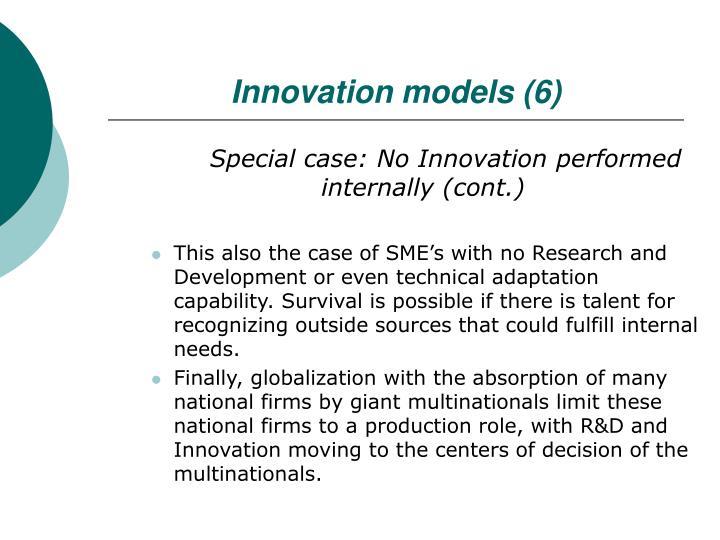 Innovation models (6)