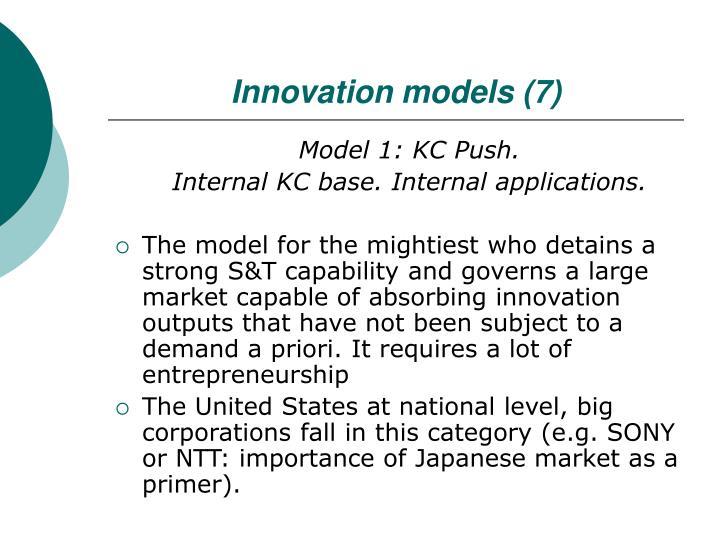 Innovation models (7)