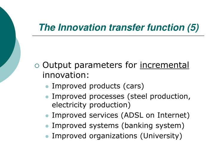 The Innovation transfer function (5)