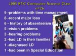 2005 rtc computer science class n 26