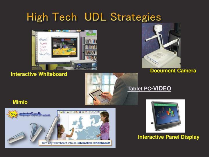 High Tech  UDL Strategies