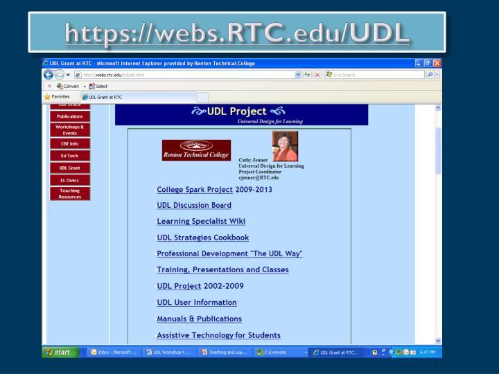 https://webs.RTC.edu/UDL