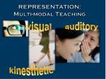 representation multi modal teaching