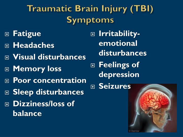 Traumatic Brain Injury (TBI) Symptoms
