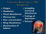 traumatic brain injury tbi symptoms