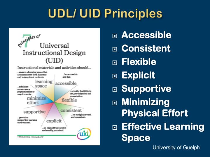 UDL/ UID Principles