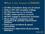 what is the impact of adhd