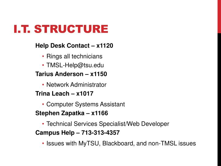 I.T. Structure