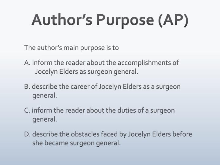 Author's Purpose (AP)