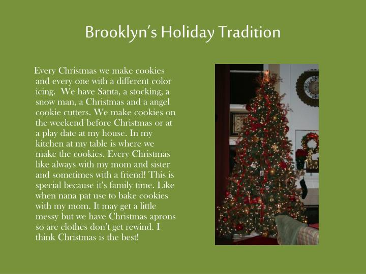 Brooklyn's Holiday Tradition
