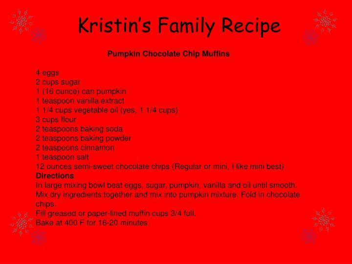 Kristin's Family Recipe