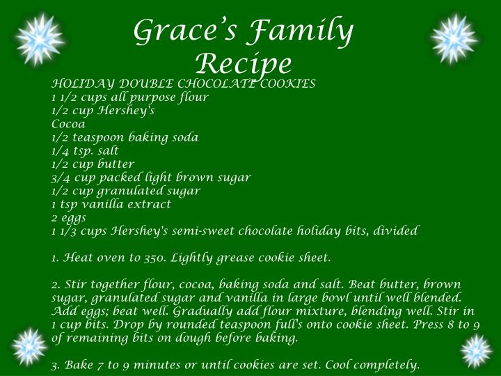 Grace's Family Recipe