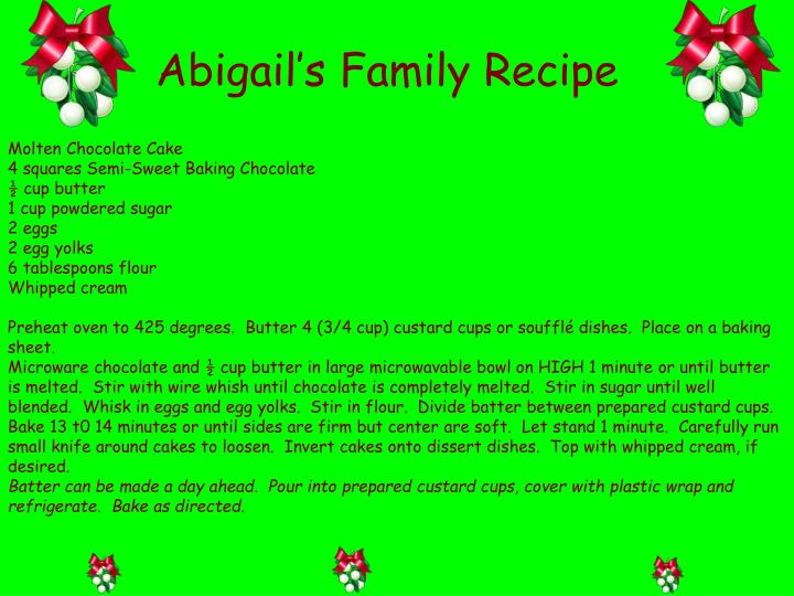 Abigail's Family Recipe