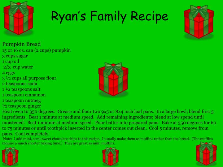 Ryan's Family Recipe