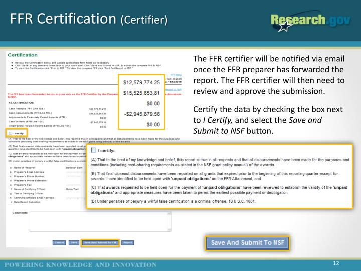 FFR Certification
