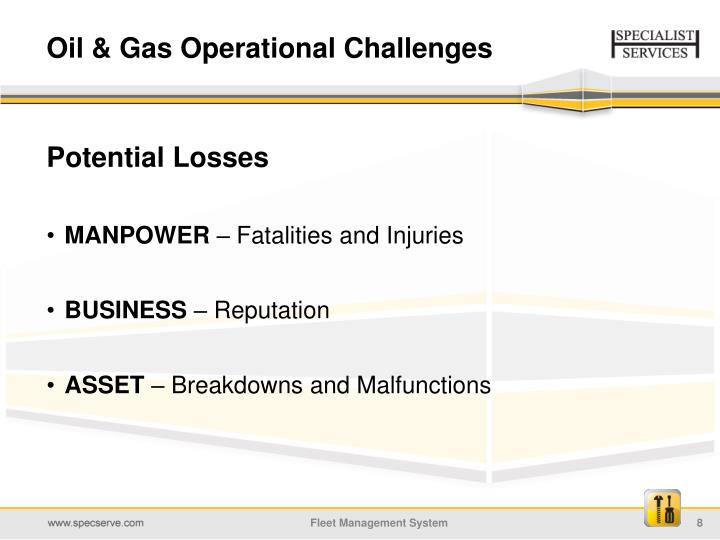Oil & Gas Operational Challenges