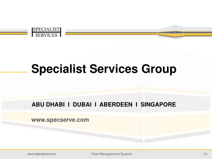 Specialist Services Group