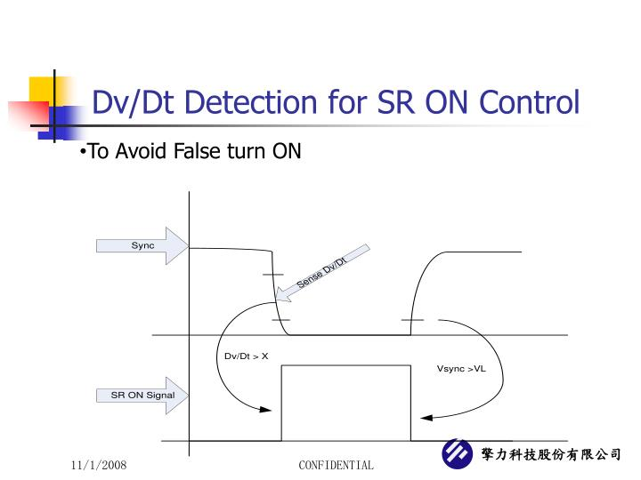 Dv/Dt Detection for SR ON Control