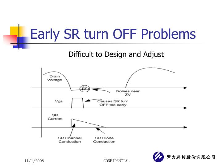 Early SR turn OFF Problems