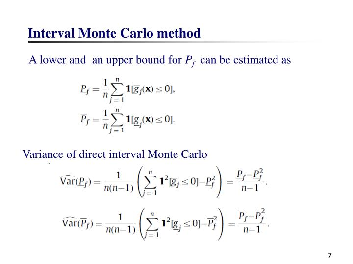 Interval Monte Carlo method