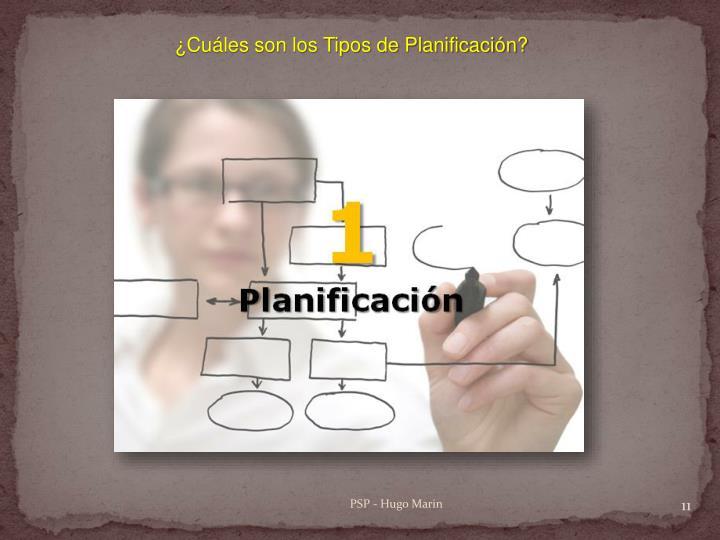 ¿Cuáles son los Tipos de Planificación?