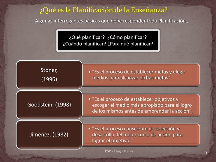 ¿Qué es la Planificación de la Enseñanza?