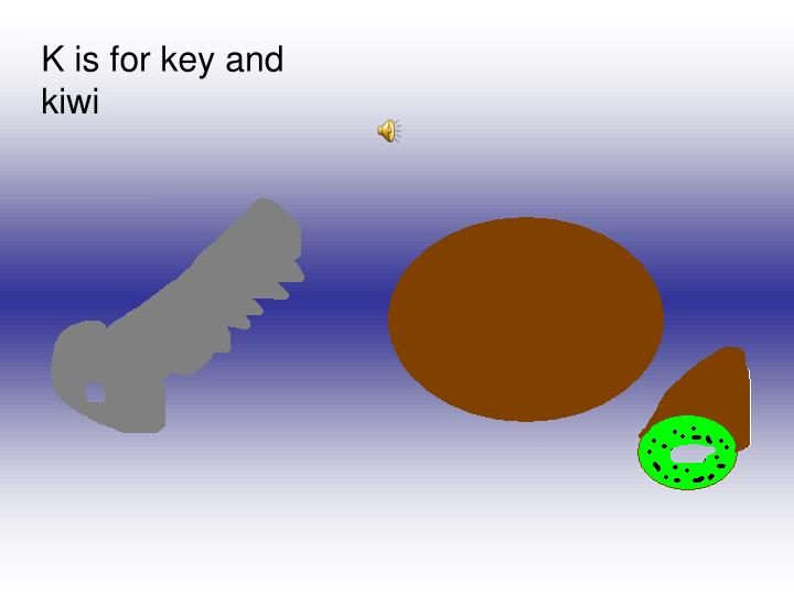 K is for key and kiwi