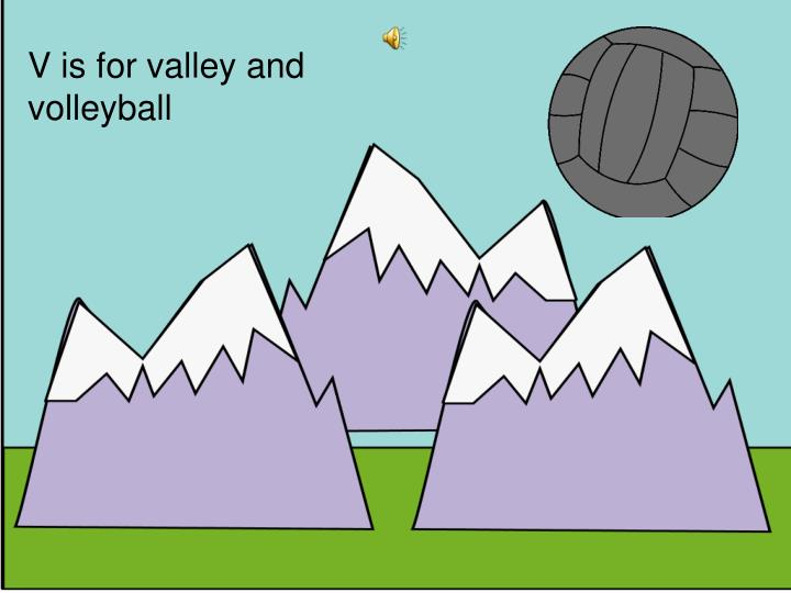 V is for valley and volleyball