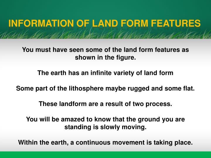 Major landforms of the earth ppt downloader