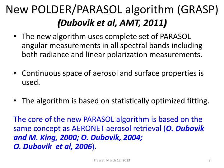New POLDER/PARASOL algorithm