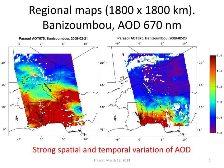Regional maps (1800 x 1800 km).