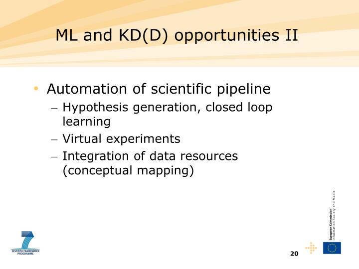 ML and KD(D) opportunities II